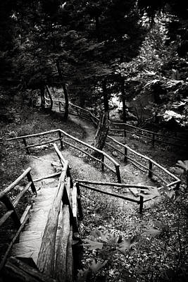 Black And White Photograph - Stairway To The Deep by Jim Perpetos