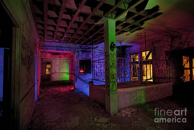 West Texas Photograph - Stairwell Of The Stamford Hotel by Keith Kapple
