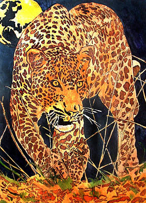 Stalking Leopard Print by Mike Holder