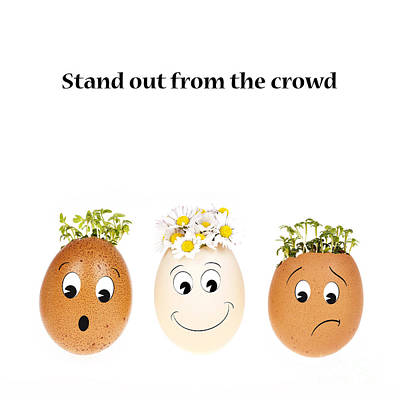 Business Cartoon Photograph - Stand Out From The Crowd by Jane Rix