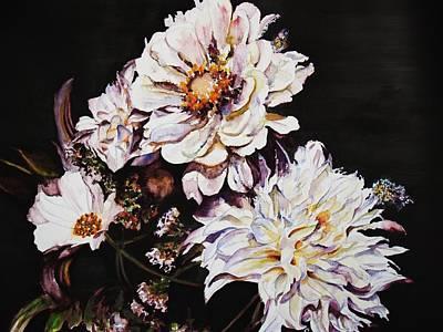 Mums Painting - Standing Tall by Lynn Callahan
