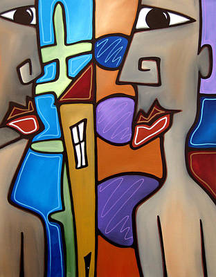 Abstract Painting - Standoff by Tom Fedro - Fidostudio