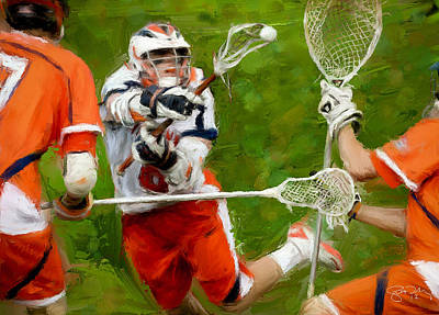 Lacrosse Painting - Stanwick Lacrosse 2 by Scott Melby