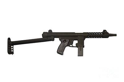 Star Z70b 9mm Submachine Gun Print by Andrew Chittock