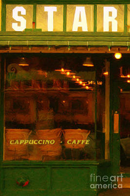 Starbucks Coffee House Print by Wingsdomain Art and Photography