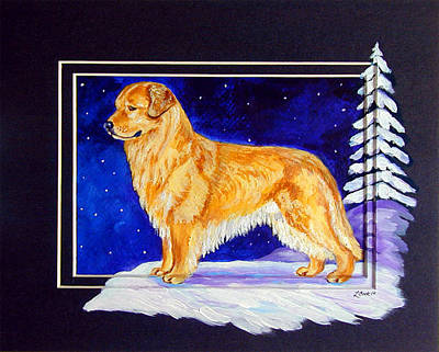 Starry Night - Golden Retriever - Original Original by Lyn Cook