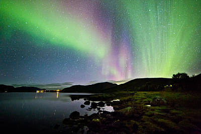 Aurora Photograph - Stars And Auroras by Frank Olsen