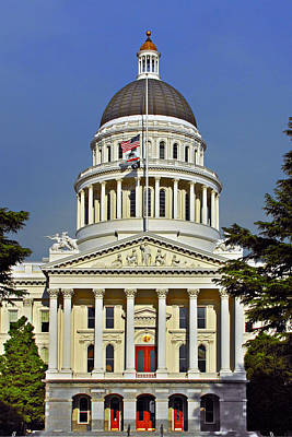 Classy Photograph - State Capitol Building Sacramento California by Christine Till
