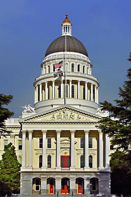 State Capitol Building Sacramento California Print by Christine Till