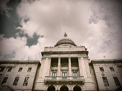 Cityhall Photograph - State House by Lourry Legarde