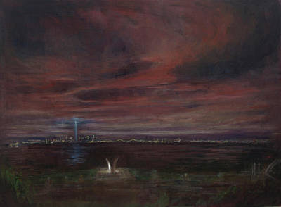 Twin Towers Nyc Painting - Staten Island - September by Sarah Yuster