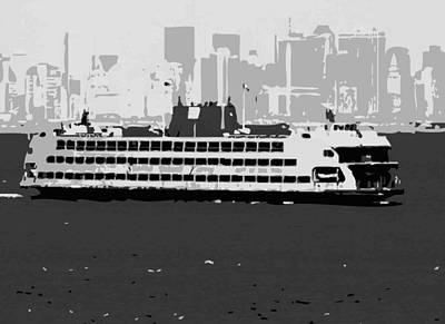 Staten Island Ferry Bw3 Print by Scott Kelley