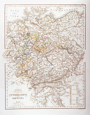States Of The German Confederation Print by Fototeca Storica Nazionale