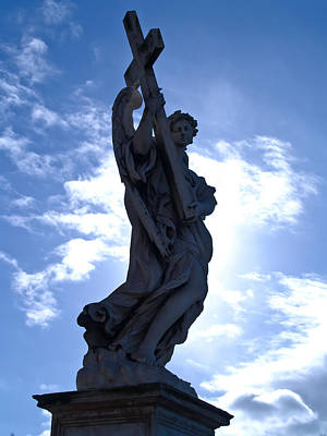 Statue In Rome Print by Andres Leon