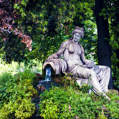 Statue In The Woods Print by Fabrizio Troiani