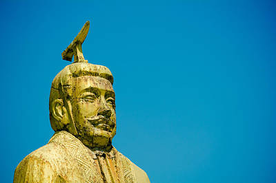 Y120817 Photograph - Statue Of Chinese Ancient Official by Pan Hong