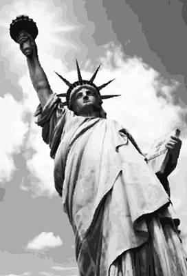Statue Of Liberty Bw16 Print by Scott Kelley