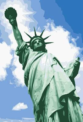 Statue Of Liberty Color 16 Print by Scott Kelley