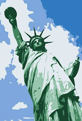 Statue Of Liberty Color 6 Print by Scott Kelley