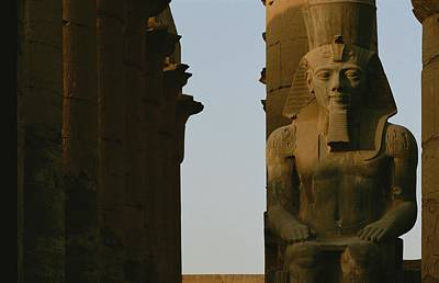 Statue Of Ramses II In The Luxor Temple Print by Kenneth Garrett