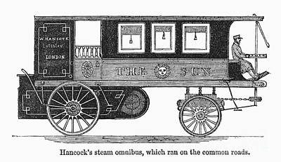 Steam Omnibus, 1830s Print by Granger