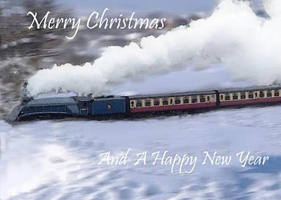 Train In The Winter Photograph - Steam Train In Snow  by Cliff Norton