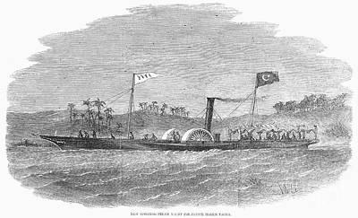 Steam Yacht, 1857 Print by Granger