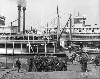 Steamboat Landing 1905 Print by Padre Art