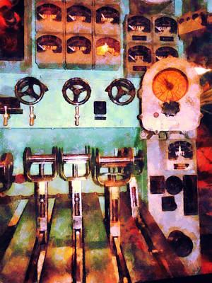 Steampunk - Electrical Control Room Print by Susan Savad