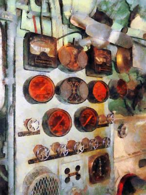 Engine Photograph - Steampunk - Gauges In Engine Room by Susan Savad