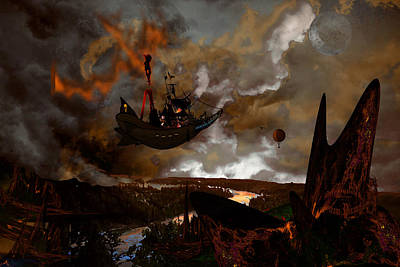 Steampunk - Steam Pirates Print by Tony Marquez