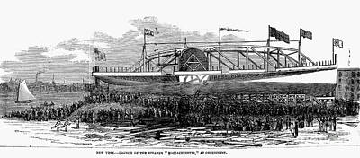 Steamship Launch, 1876 Print by Granger