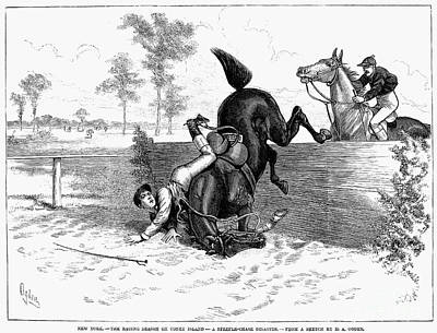 Steeplechase, 1882 Print by Granger
