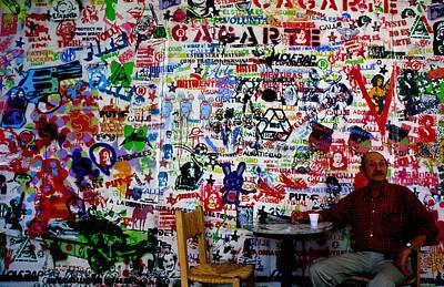 Stencil Graffiti In Centro Cultural Recoleta, Buenos Aires, Argentina, South America Print by Krzysztof Dydynski