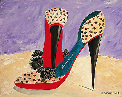 Stillettos Painting - Stepping Out by Maureen Bieniarz-Pond