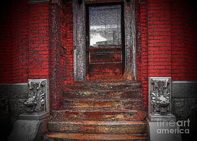Steps To The Past Print by Victor Sexton
