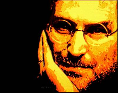 Goan Artists Digital Art - Steve Jobs Patience by Piety Dsilva
