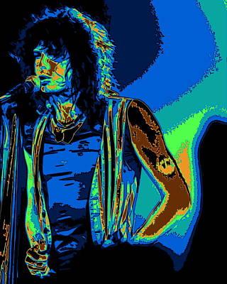 Steven Tyler Digital Art - Steven In Spokane 1e by Ben Upham