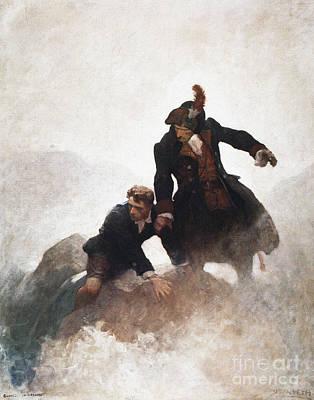 Novel Painting - Stevenson - Kidnapped 1913 by Granger
