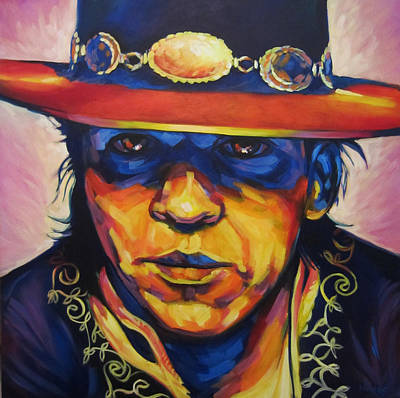 Austin Drawing - Stevie Ray by Steve Hunter