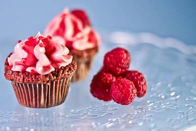 Sticky Raspberry Chocolate Cupcake Print by Birgitta Forsberg