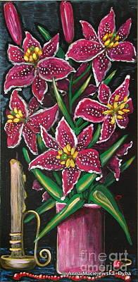 Folkartanna Painting - Still Life by Anna Folkartanna Maciejewska-Dyba