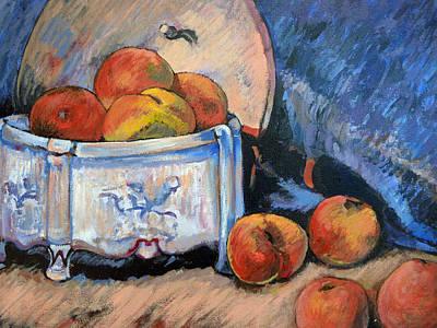 Still Life Peaches Print by Tom Roderick