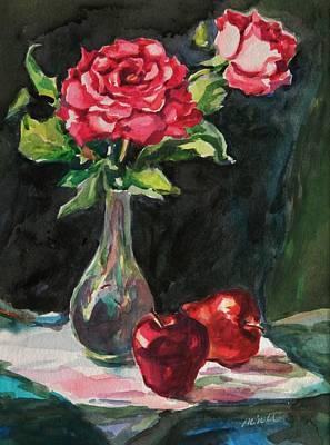 Table Cloth Painting - Still Life Series No. 5 by Min Wang