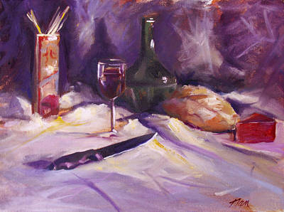 Bread And Cheese Painting - Still Life With Cheese by Nancy Griswold