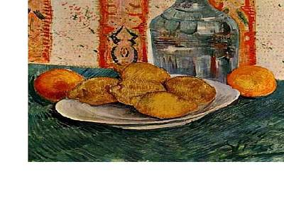 Post It Digital Art - Still Life With Decanter And Lemons On A Plate by Van Gogh