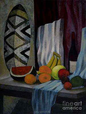 Still Life With Fruit Print by Jukka Nopsanen