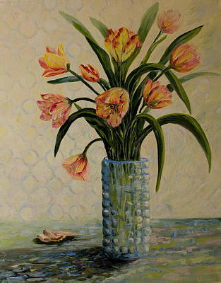 Still Life With Tulips Original by Joanne Smoley