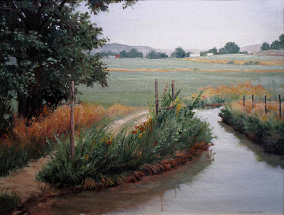 Natural Resources Painting - Still Water-irrigation by Victoria  Broyles