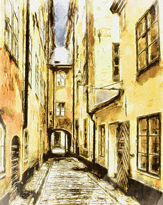 Stockholm Old City Print by Yury Malkov